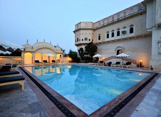 Alsisar Mahal Jhunjhunu, Rajasthan Poolside