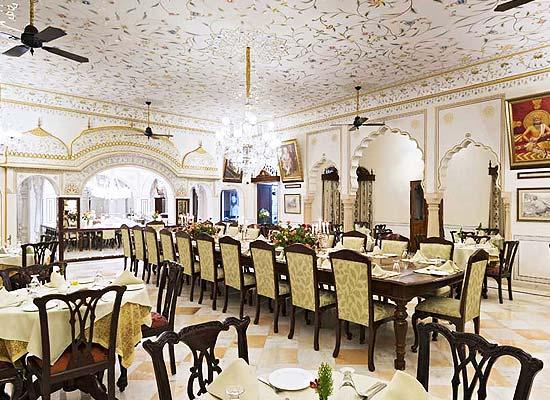 Nadesar Palace Varanasi dining room