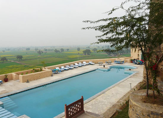 Hill Fort Kesroli alwar pool view