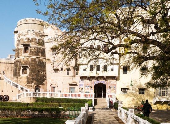 castle mandawa hotel mandawa facade
