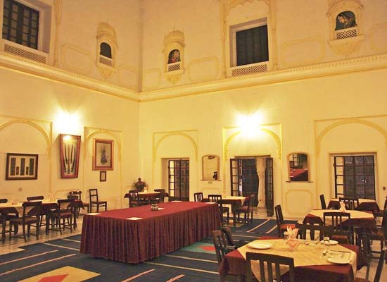 Roopangarh Fort ajmer dining hall