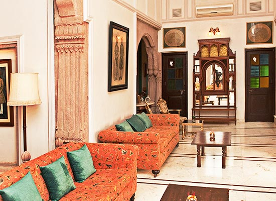 Balsamand Lake Palace Jodhpur Sitting Area