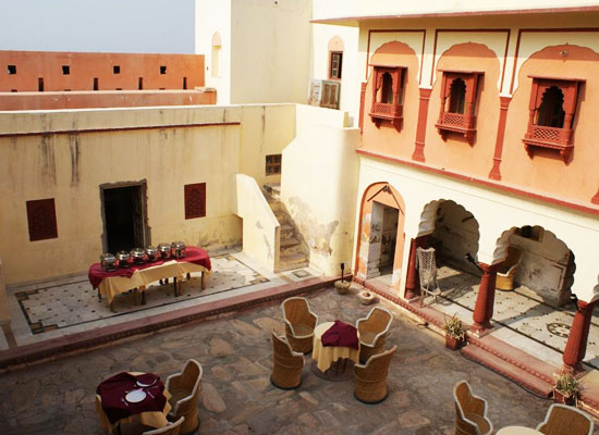 Fort Madhogarh Jaipur Open air dining