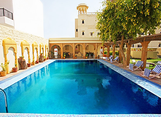 Hotel Jhalamand Garh jodhpur pool view