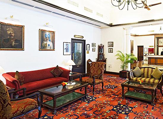 Jehan Numa Palace Bhopal Sitting Area