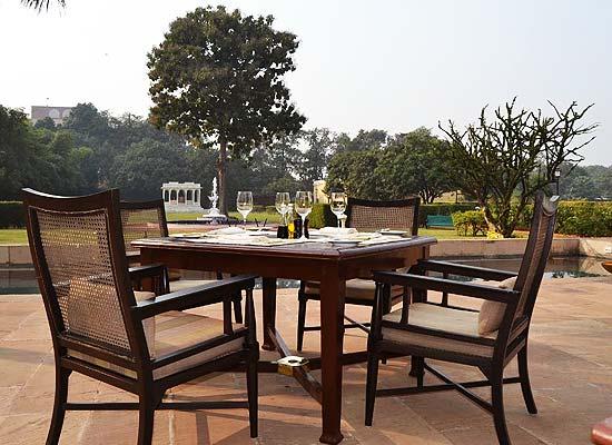 Nadesar Palace varanasi outside sitting area