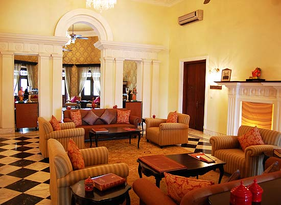 Nadesar Palace varanasi sitting area