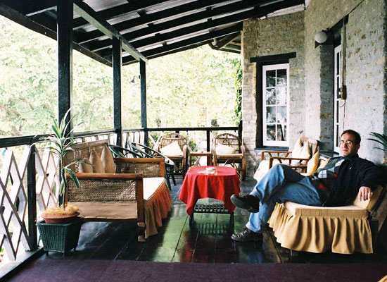 Himalayan Hotel kalimpong balcony