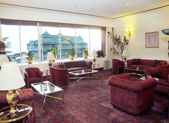 Clarkes Hotel shimla sitting area