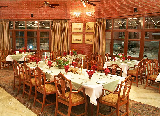 Restaurant at Taragarh Palace Taragarh, Himachal Pradesh