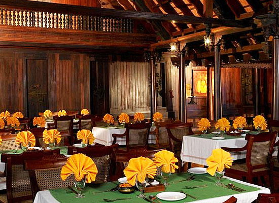 Restaurant at Kumarakom Lake Resort Kerala
