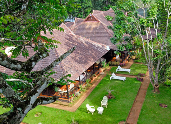 Lake Palace thekkady aerial view