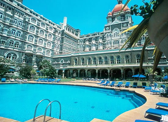 Swimming pool at Taj Mahal Hotel Mumbai