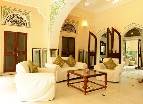 Hotel Diggi Palace jaipur sitting area