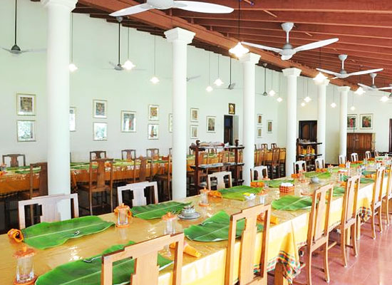 Dining area at The Bangala Karaikudi Tamil Nadu
