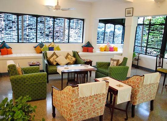 Sitting area at The Bangala Karaikudi Tamil Nadu