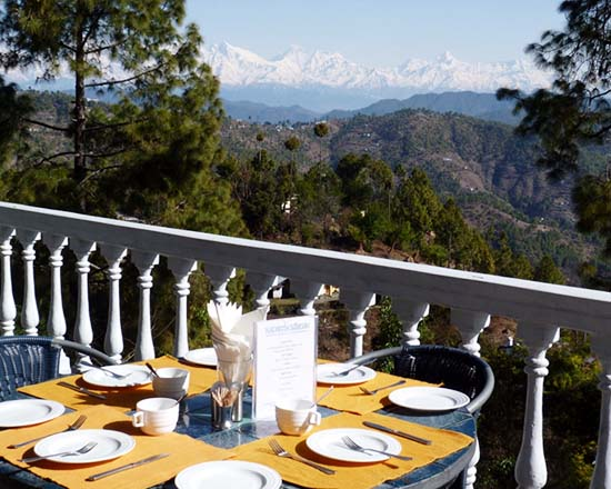 AyurVAID Kalmatia Almora Open Air Restaurant