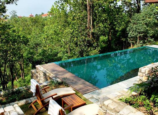 Ananda in Himalayas Uttarakhand Poolside