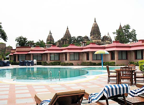 Swimming Pool at Orchha Resort
