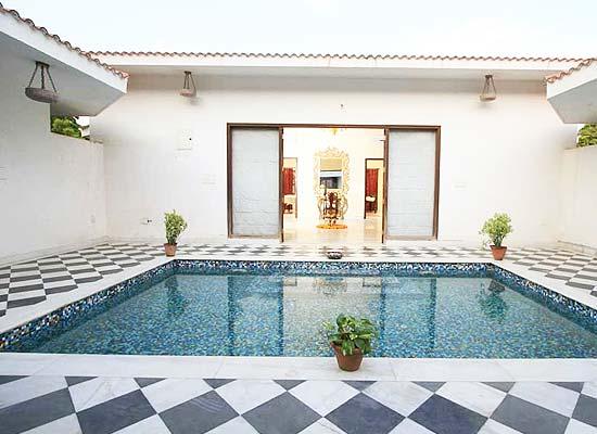 Swimming Pool at Raj Niwas Palace Dholpur, Rajasthan