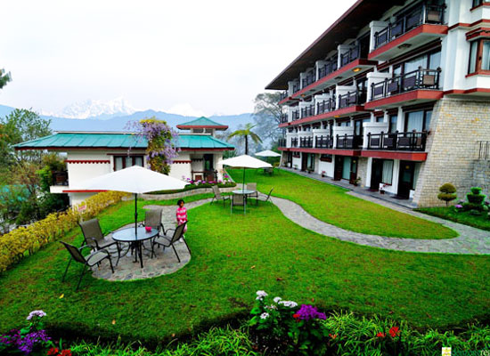 Denzong Regency gangtok garden view