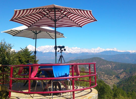 The Heritage Resort Kausani mountain view