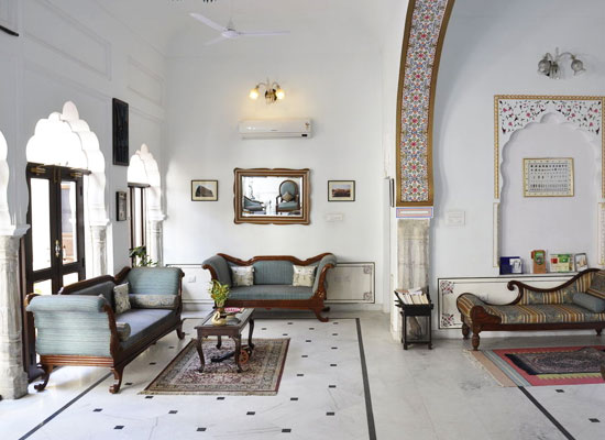 Khandela Haveli Jaipur Sitting Area
