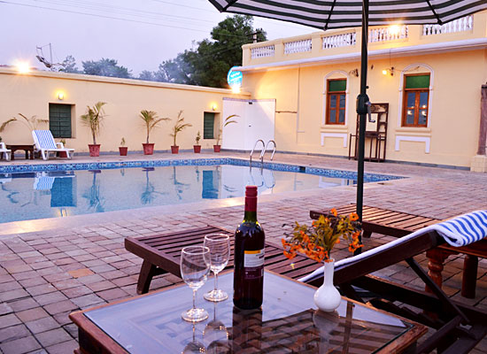 Swimming Pool at Koolwal Kothi Nawalgarh, Rajasthan