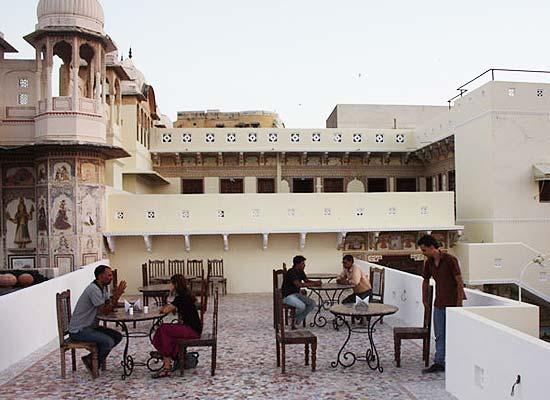 Open Air Dining at Paawana Haveli Mandawa, Rajasthan