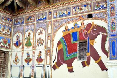 Hotel Shekhawati mandawa wall interior design