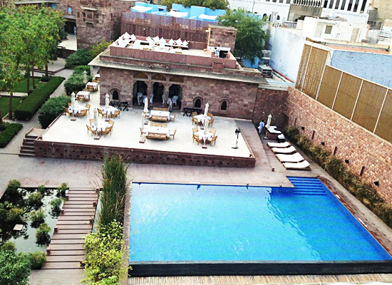 Hotel Raas jodhpur pool side