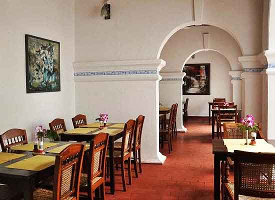 Dining at Old Courtyard Kochi