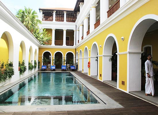Swimming Pool at Palais de Mahe Pondicherry