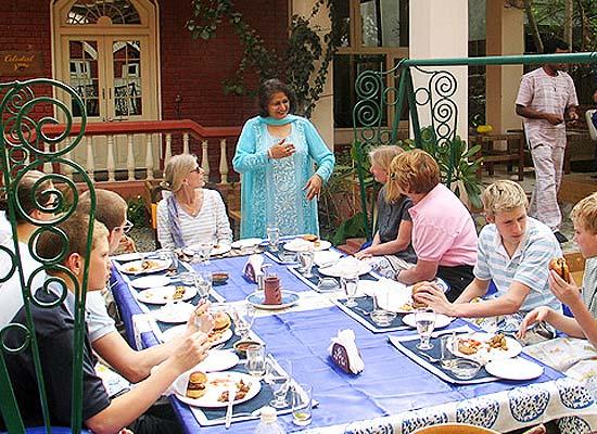 Guests enjoying at Dinig area of Ranjits Svaasa Amritsar