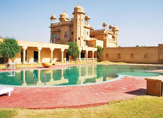 Deoki Niwas Palace jaisalmer pool view