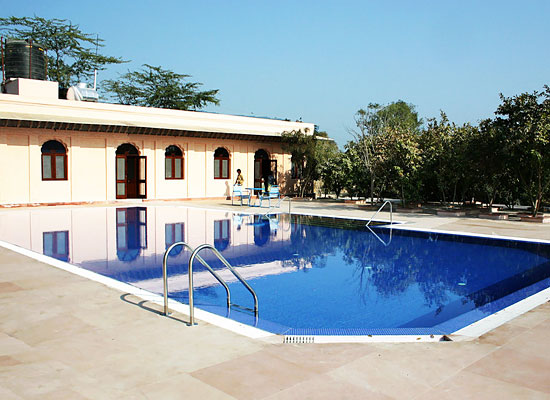 Swimming Pool at The Bagh Bharatpur, Rajasthan