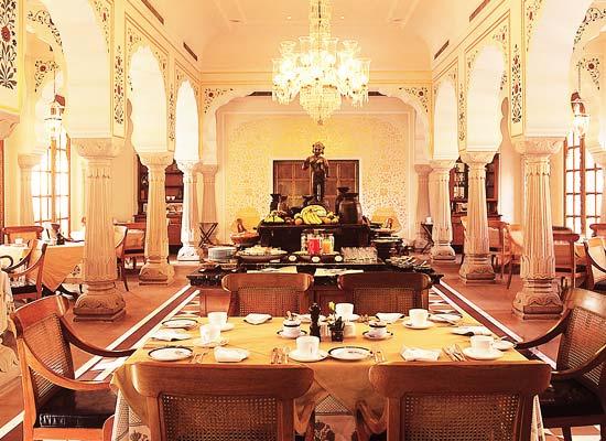 Oberoi Raj Vilas jaipur dining sitting area