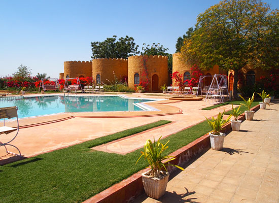 Himmatgarh Palace jaisalmer pool view