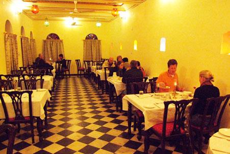 Hotel Heritage Mandawa shekhawati dining area