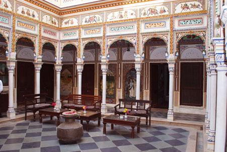 inside view of Hotel Heritage Mandawa shekhawati