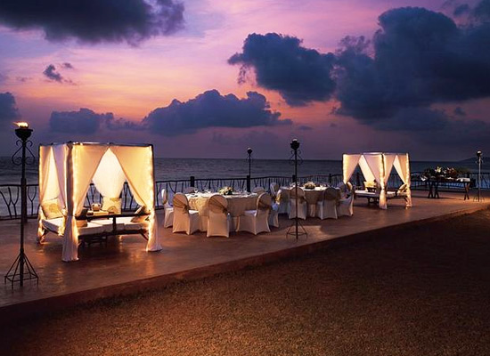 Beachview restaurant at Taj Fort Aguada Goa