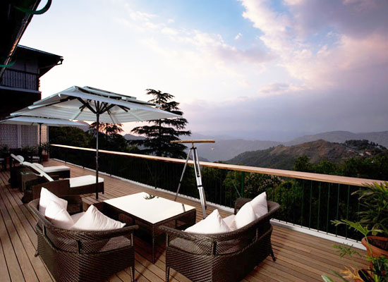Amber Vermont Estate Mussoorie Terrace View