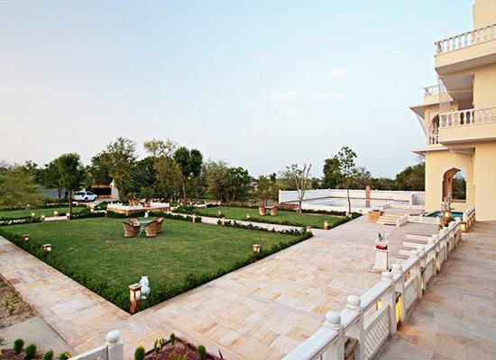 Garden area at Talai Bagh Palace Jaipur