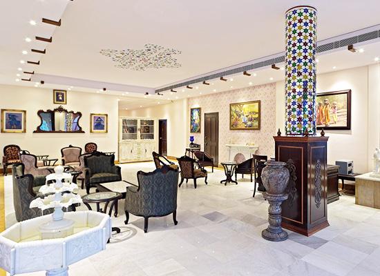 sitting area at Talai Bagh Palace Jaipur