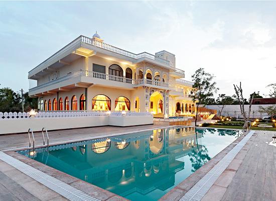 Swimming pool at Talai Bagh Palace Jaipur