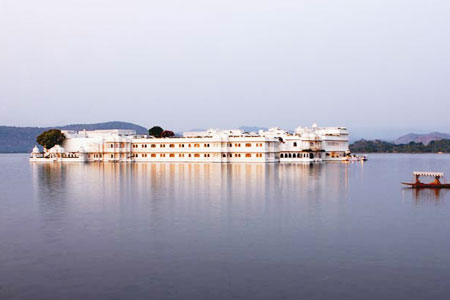 Lake Pichola View of Taj Lake Palace Udaipur