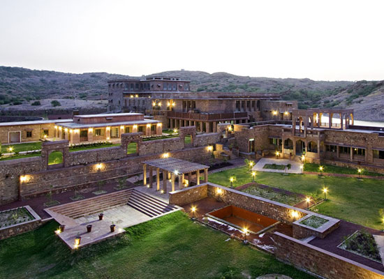 Bijolai Palace Jodhpur outside view