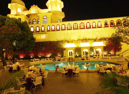 Open Air restaurant at Taj Fateh Prakash Palace Udaipur