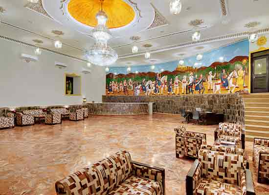 Large Sitting Hall at The Amargarh Resort Udaipur