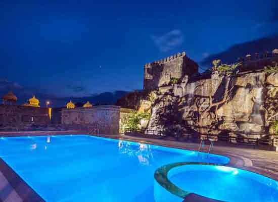 Swimming pool at The Amargarh Resort Udaipur